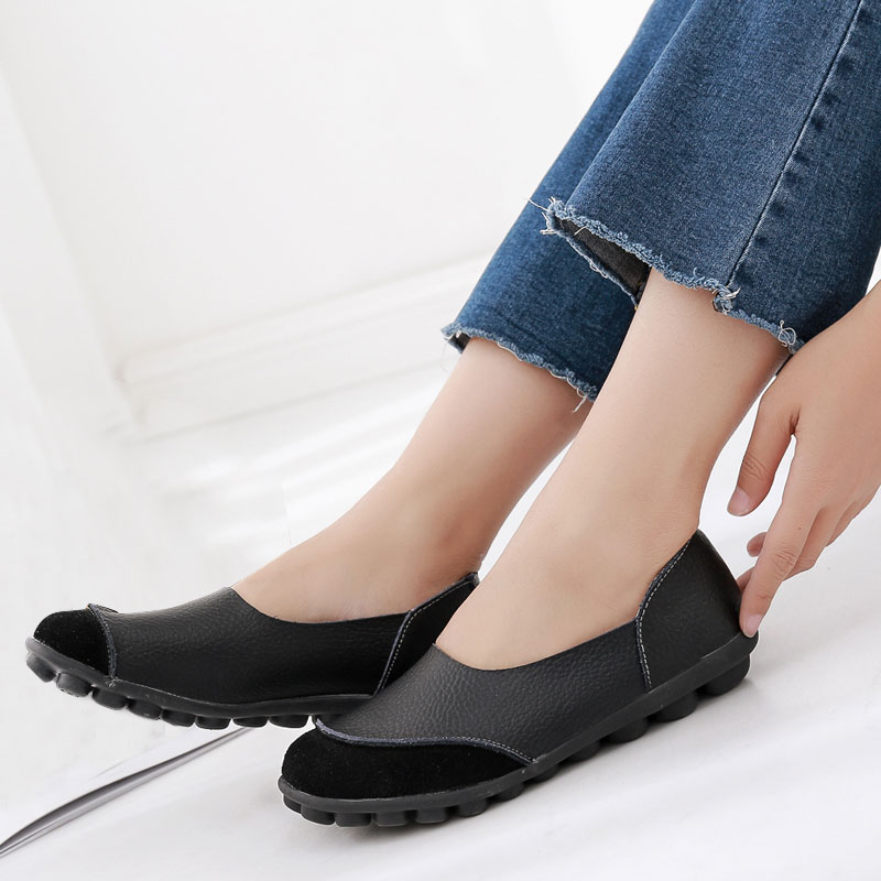 2018 Spring Shoes Women Flats Loafers Moccasins Ladies Mother Shoe Driving Leisure Concise Footwear Women Casual Shoes BT702 ladies leisure casual flats shoes patent leather lady loafers sexy spring women shoes brand footwear shoes size 33 48 p16177