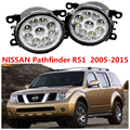 For NISSAN PATHFINDER R51 2005-2014  Car styling LED 4.5 W Fog Lights Lamps DRL 1 SET Yellow Blue White  1209177