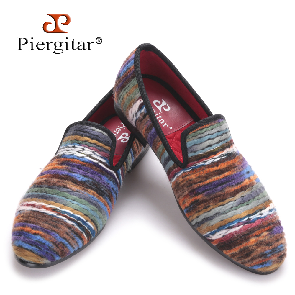 Rich color men cotton fabric shoes retro and fashion men loafers British style casual smoking slipper Plus size men