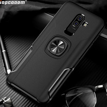 For Samsung Galaxy M10 Case Ring Magnetism Stand Shockproof Car stand Armor back cover Coque 5.6 Inch