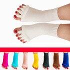 @1  10 цветов Нитриловый Хлопок Йога Пять Пальцев Носки Женщин Открытые Пять Пальцев Носки Сепаратор Мас ①