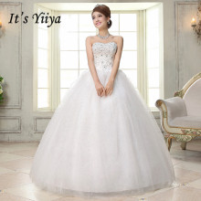 Free Shipping Beading Bling Fashion Strapless Wedding Dresses Cheap White Bridal Frocks Custom Made Vestidos De Novia MH35