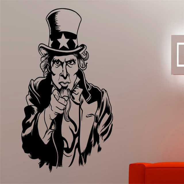 Keren Karakter Amerika Seluruh Pola Wallpaper Art Dirancang Wall