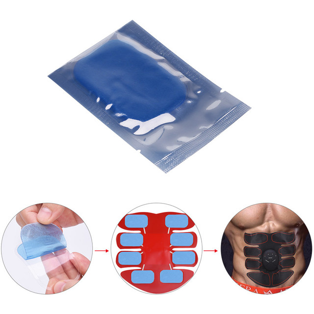 10-20Pcs EMS Muscle Trainer Replacement Gel Pads Abdominal Toning Belt Sticker Abs Training Massage Gear Pads Gel Patch Sheets 0 3