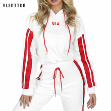 2019 New fashion women tracksuit Casual Hooded Sweat +Pencil