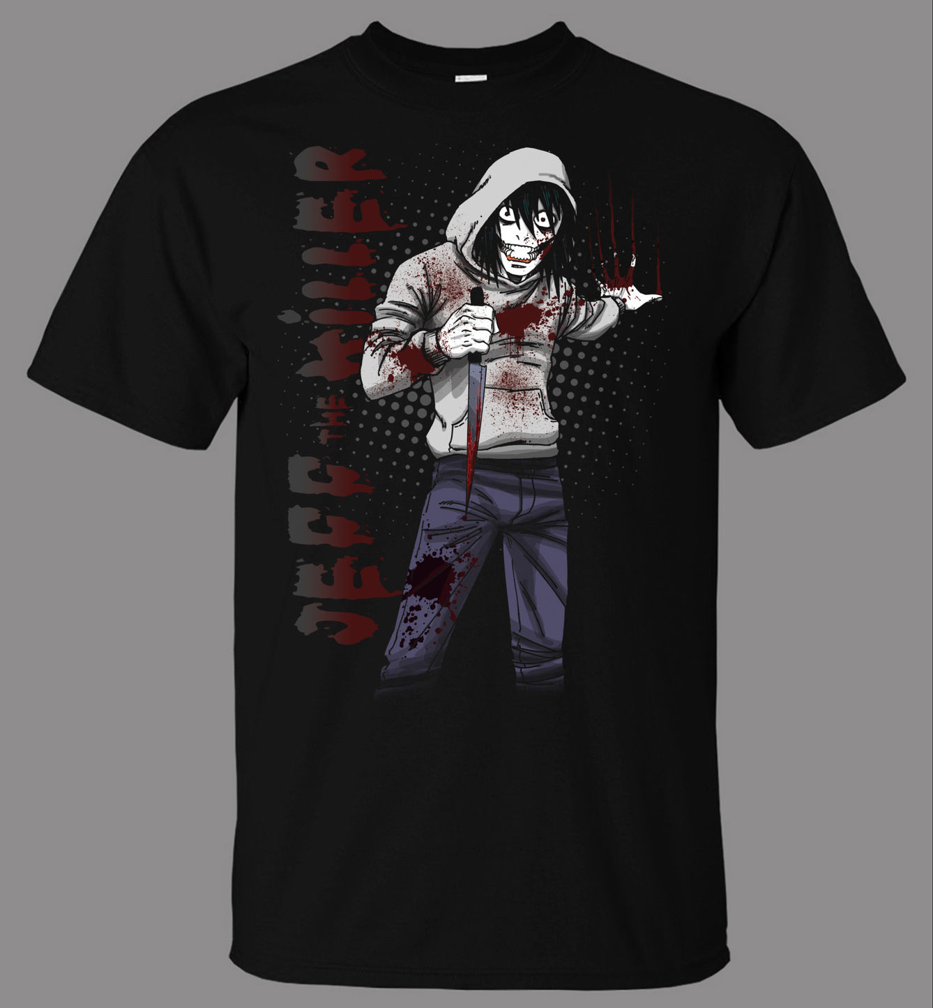 Jeff The Killer V3 T-Shirt - Direct From Stockist 100% Cotton Brand New T-Shirts Top Tee T Shirt Men High Quality Tees