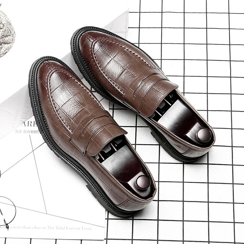 Preto Sapatos Elegante Dos Clássico De Men Luxo Couro Marca Designer brown E Msw8118166 Homens 76wSqx7B1H