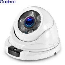 GADINAN 2.8mm 광각 풀 HD 1080P 2MP POE 돔 보안 카메라 IP 유선 야외 실내 방수 Vandalproof 적외선