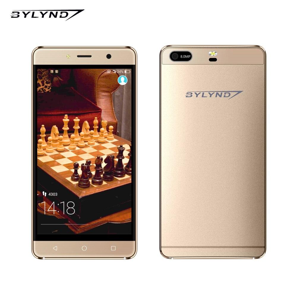 bilder für Original china handys 5,0 zoll 8.0mp 1g ram mtk6580 quad core android os 6,0 bylynd handy m11 1280*720 3g wcdma GPS