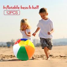 12 шт. 30 см надувной пляжный мяч красочный открытый водный спорт Забавный плавательный бассейн игра мяч для детей и взрослых