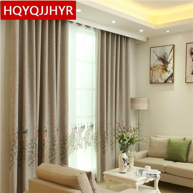 Chinesische Eigenschaften Pfau Gestickte Hochwertigen Schatten Vorhänge Für Wohnzimmer  Luxus Benutzerdefinierte Moderne Vorhang Für Schlafzimmer