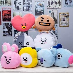 35cm Original BTS Plush Pillows Kpop Bangtan Boys Bt21 Warm Bolster TATA VAN COOKY CHIMMY SHOOKY KOYA RJ MANG Cushion Dolls