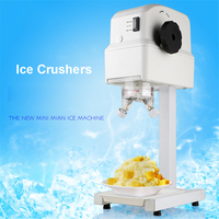SD 108 Ice shaver Electric Ice crusher Commercial Slusher 220V 80W Slushing machine for cafe Bubble tea Food grade PC Material