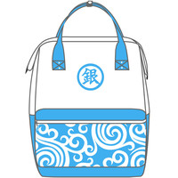 New Hot Anime Silver Soul Cosplay Sakata Gintoki Backpack Yo Ro Zu Ya Student Travel Bag Computer Bag Japanese Anime Peripheral