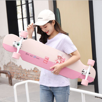 Fashionable Long Skateboard Four wheel Roller Scooter Travel Tools Skate Board Longboard 30 Colors