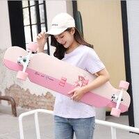 Fashionable Long Skateboard Four wheel Roller Scooter Travel Tools Skate Board Longboard 30 Colors