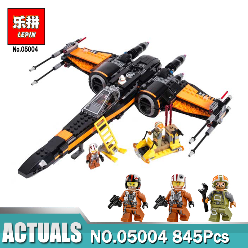 Lepin 05004 Star Set Wars First Order Poe's X-wing Fighter Assembled Toy Building Block Compatible LegoINGlys 75102 Gift for Boy hot sale building blocks assembled star first wars order poe s x toys wing fighter compatible lepins educational toys diy gift