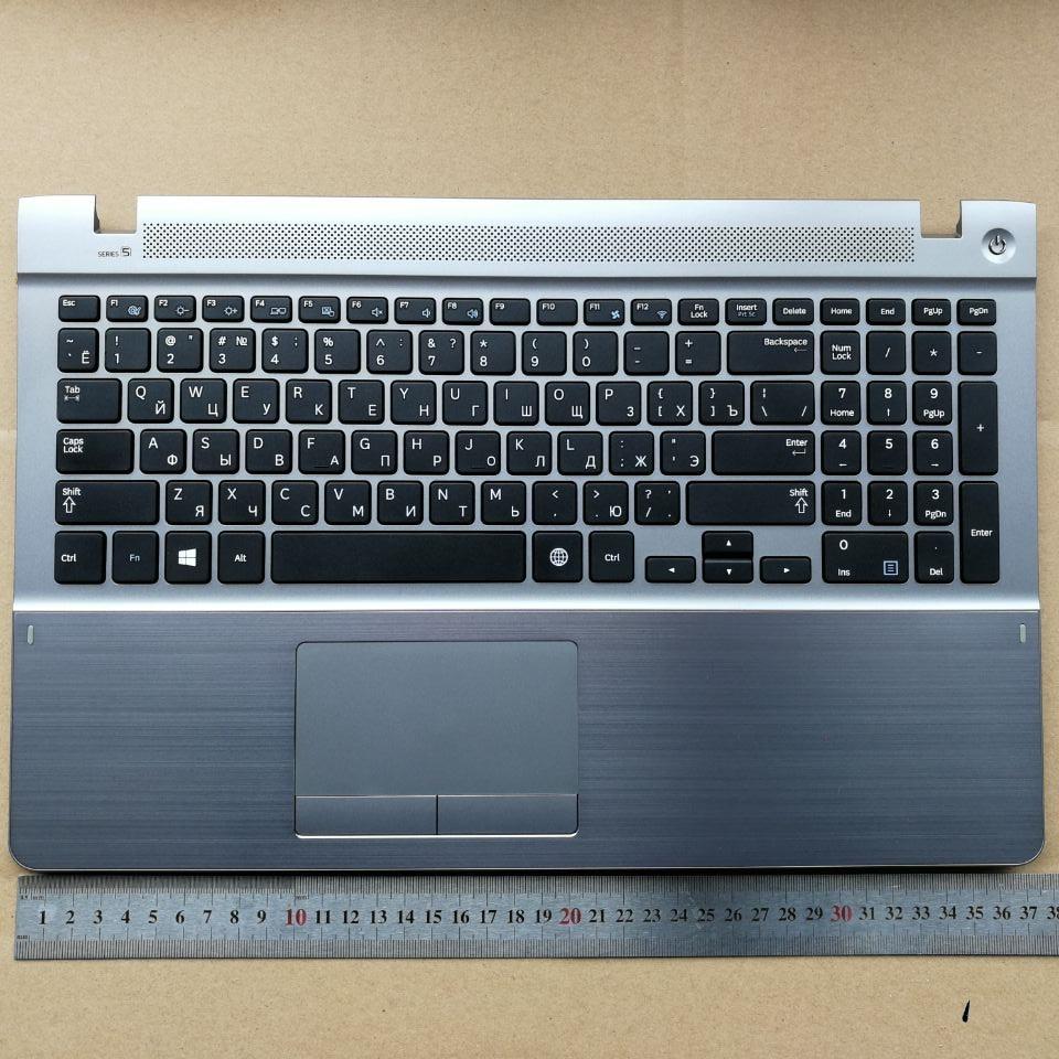 RU New Laptop Keyboard With Touchpad Palmrest  For Samsung  470R5E  370R5E 510R5E-S01 450R5V NP470R5E Russian BA75-04536A