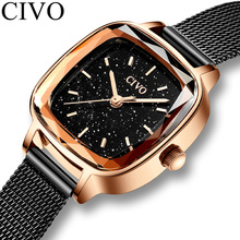 CIVO 2019 New Fashion Top Brand Watch Women Waterproof Ladies Wrist Watches Fema