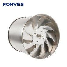 Нержавеющая сталь 4 дюйма рядный канальный вентилятор трубы вытяжной вентилятор воздушный вентилятор мини-экстрактор ванная комната стенной вентилятор 100 мм 220V
