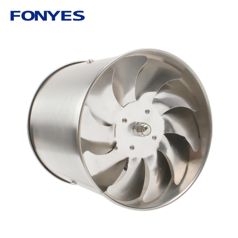 Stainless Steel 4 Inch Inline Duct Fan Pipe Ventilation Exhaust Fan Air Ventilator Mini Extractor Bathroom Wall Fan 100mm 220V