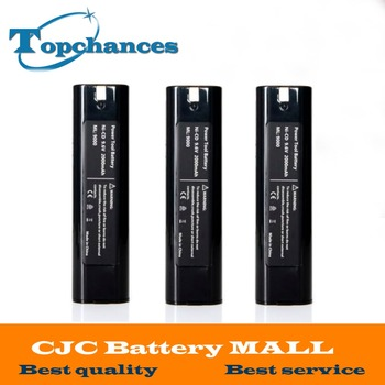 High Quality 3PCS 9.6V 2000mAh Rechargeable Power Tool Battery For Makita 9000 9001 9002 9033 632007-4 191681-2