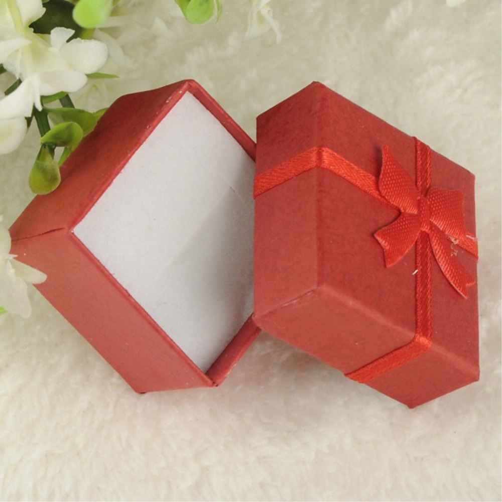 10 candy colors 24pcs/lot 4*4*3cm jewelry earring bracelet ring gift boxes pink square carton bow case