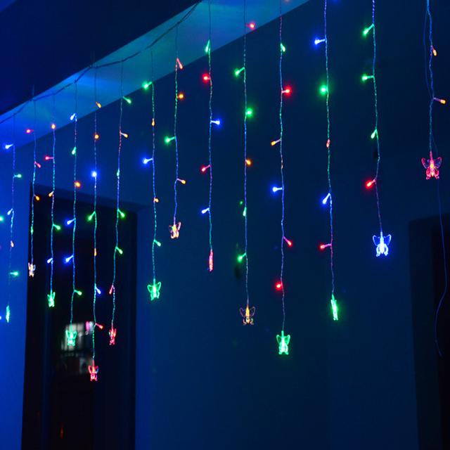 1 5x0 5m LED String Christmas Fairy Lights Butterfly Guirlande