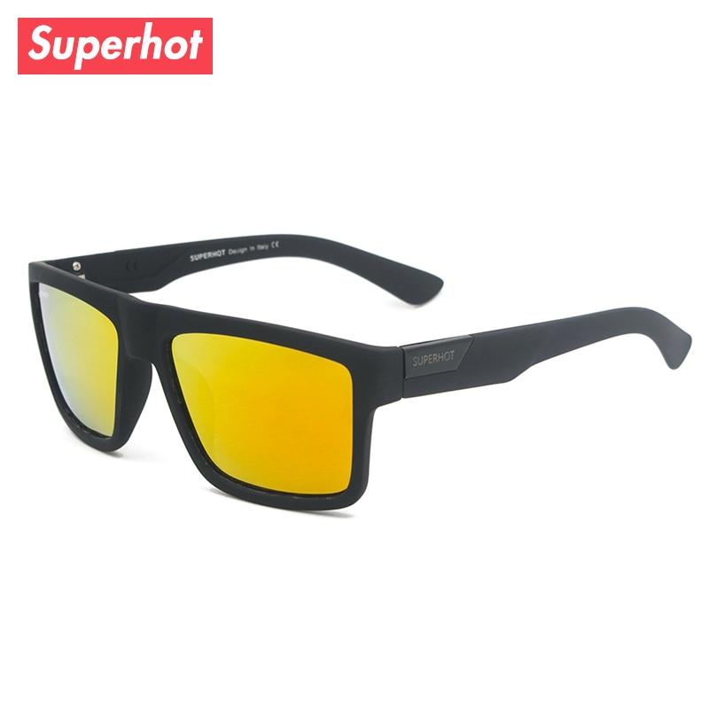 Superhot Men's Polarized Sunglasses Mirrored Sun glasses