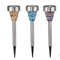 3PCS Hot Sale Solar Energy Outdoor Lamp For Lawn Big Promation High Quality Solar Power Mosaic