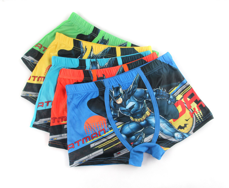 Cool Briefs for Boys Underwears Panties Infant Boxers Briefs Shorts Cotton Cartoon Batman Teenager Underwears for 3-11 years old