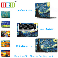 HRH Paiting For Sticker Macbook Air 11 12 13 Pro 13 15 Retina Decal Laptop Wall