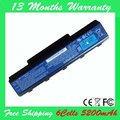 5200 mAh Bateria para eMachines E525 E627 E725 D525 D725 G620 G627 G725 TJ66 AS09A75 AS09A90 AS09A73