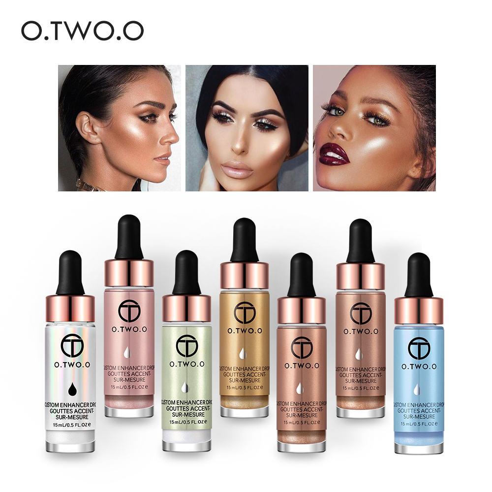 O.TWO.O Liquid Highlighter Make Up Primer Shimmer Face Glow Ultra-concentrated Illuminating Bronzing Drops Face Makeup
