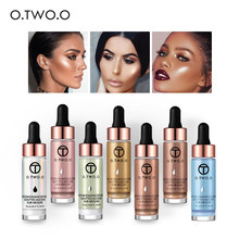 O. 2. O Liquid Highlighter Make Up Primer Shimmer Face Glow illuminating bronzing หยดแต่งหน้า(China)