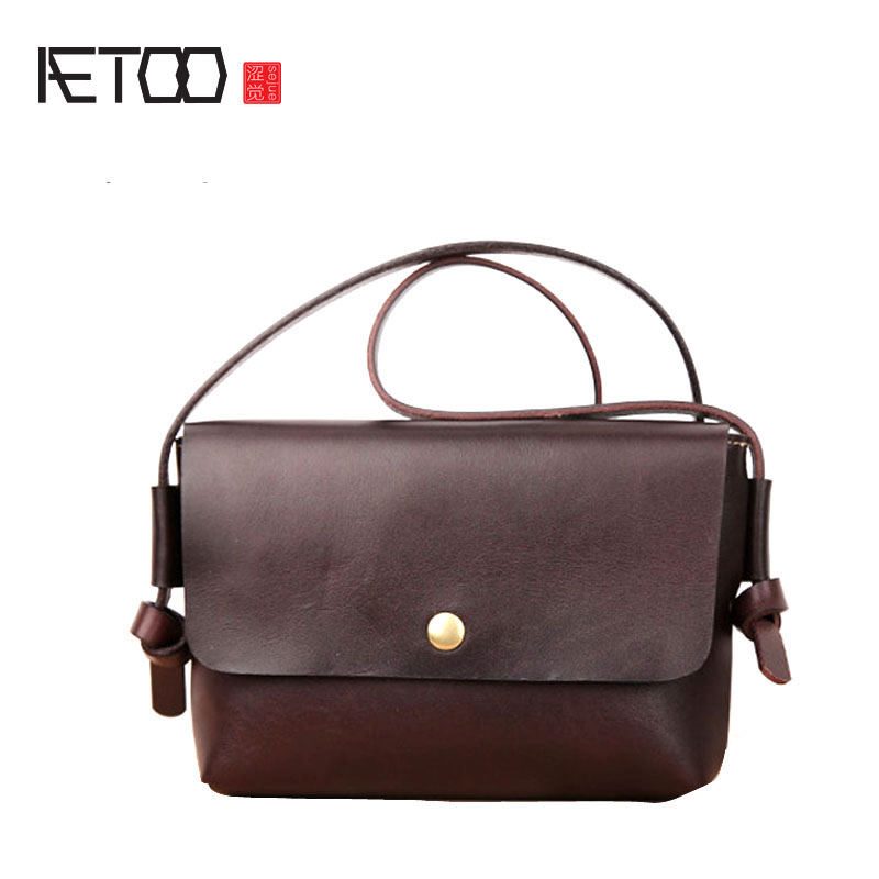 AETOO Handmade leather female small bag first layer of leather 2017 new summer personalized hanging Korean version of the wave o aetoo leather mini shoulder bag female small backpack head layer of leather casual 2017 new korean version of the wild tide pack