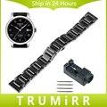 16mm 18mm 20mm pulseira de cerâmica completo para tissot 1853 t035 prc200 t055 t097 watch band butterfly cinta fecho ligação pulseira + ferramenta