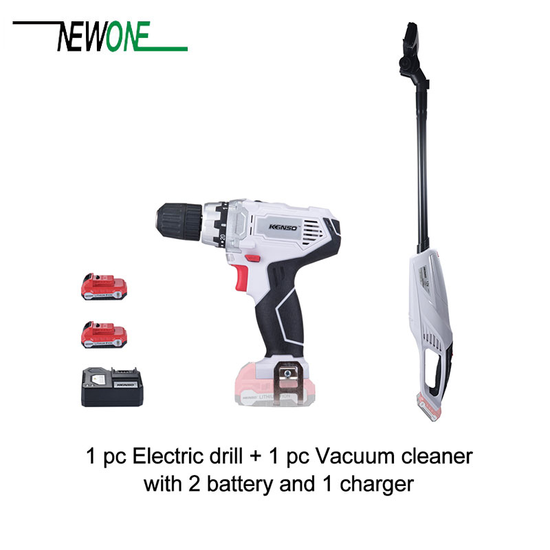 newone Keinso 12V power tools set Vacuum cleaner and Electric drill with two lithium battery and