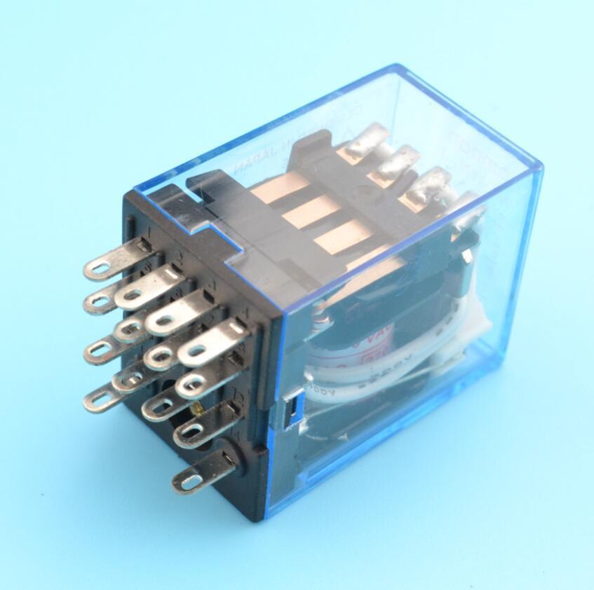 Time relay 220V / 240V AC Coil 4PDT Power Relay MY4NJ HH54P L 14 Pin ...