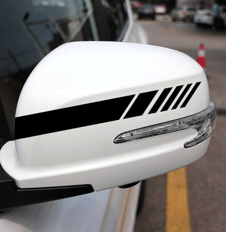 Pegatina de coche para decoración de espejo retrovisor para Nissan QASHQAI X-TRAIL Geniss Citroen C4 C5 c-triomphe Peugeot 307cc Pathfinder Dual