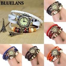 Eiffel Tower Ladies Watches Hot Vintage Women's  Quartz Leather Bracelet Wrist Watch  1N5S New Design 5D9L 6XWY