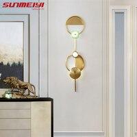 Ар деко золото светодиодный стены лампы внутреннего освещения для гостиной ступеньки спальни столовая аппликация murale современный Ванная к