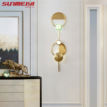 Art Deco Gold LED Wall Lamps Indoor Lighting For Living room Bedroom Stair Dining applique murale Modern Bathroom Lamp