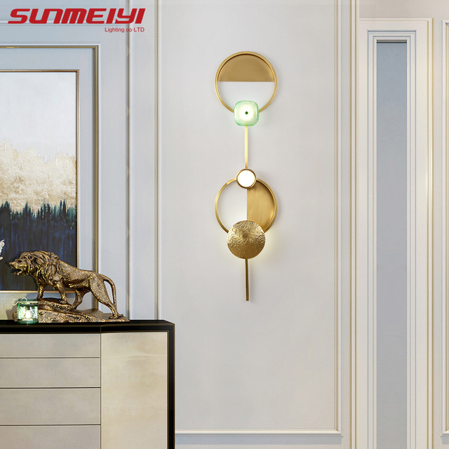Art Deco Gold LED Wall Lamps Indoor Lighting For Living room Bedroom Stair Dining room applique murale Modern Bathroom Lamp