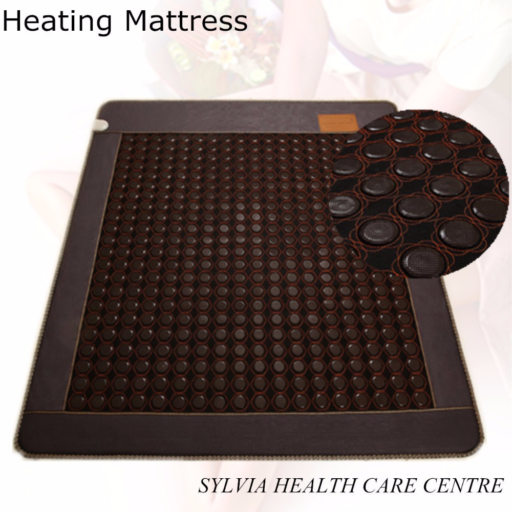 Hot new products for 2018 heating sleep cushion chinese mattress tourmaline infrared mat free shipping with Free Gift eye cover copper soap dish bathroom shelf basket holder silver