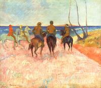 Landscape painting Riders on the Beach Paul Gauguin art oil on canvas Handmade High quality