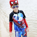 Children Swimwear 2017  New Arrivals Funny Cartoon Printed Boys Swimsuit Mode Plus Size Long Sleeve Kids Bathing Suit 62540