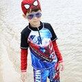 Los niños del traje de Baño de 2017 Nuevas Llegadas Modo Divertido de la Historieta Impresa Niños del traje de Baño Más El Tamaño de Manga Larga Niños Traje de Baño 62540