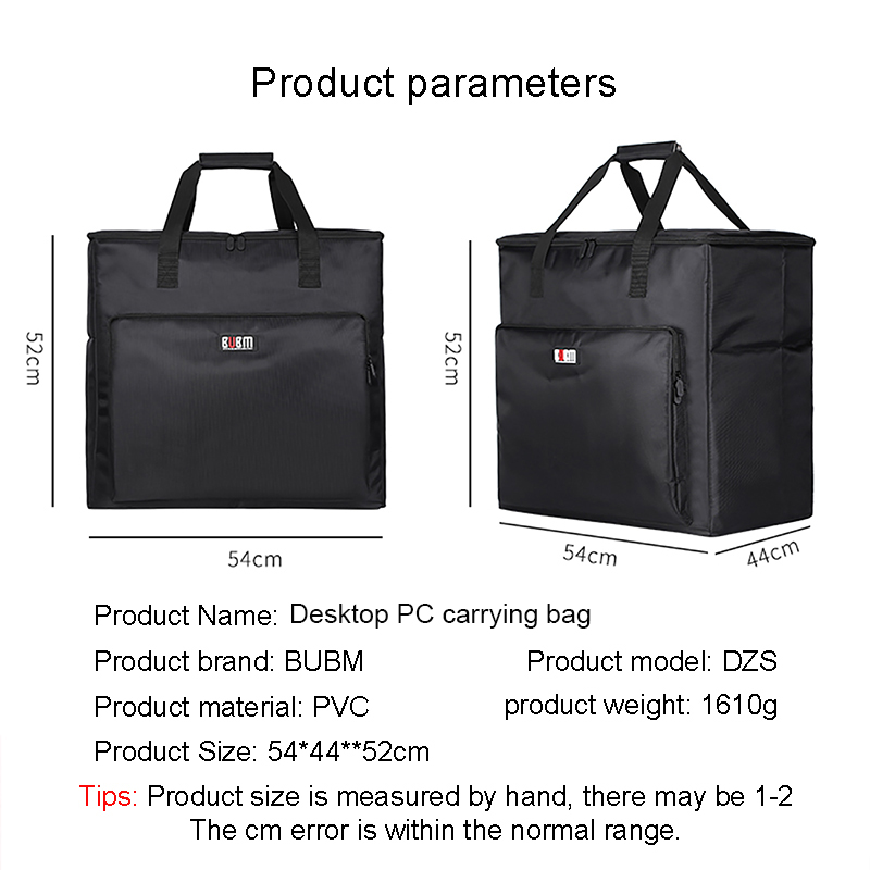 63ce8e9127b5 US $55.99 20% OFF BUBM Desktop PC Computer Travel Storage Carrying Case Bag  for Computer Main Processor Case, Monitor, Keyboard and Mouse-in Laptop ...