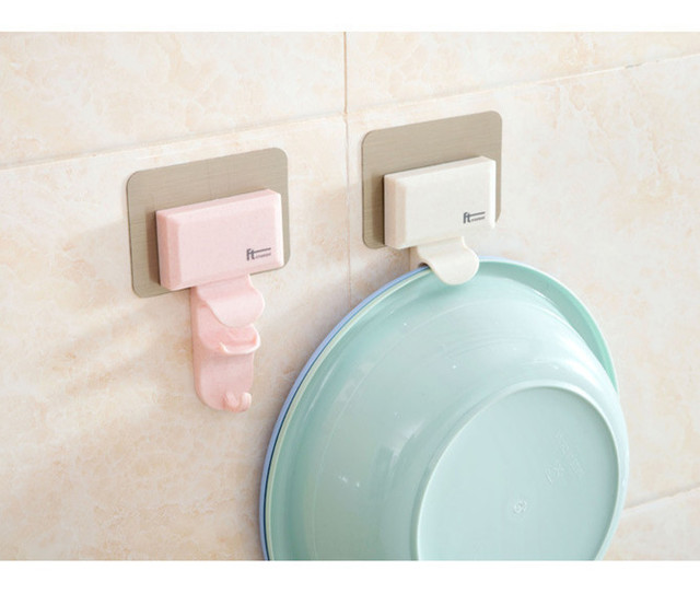 2017 New Creative Plastic Multifunction Bathroom Wall Holder Kitchen Wall  Hooks Hanger